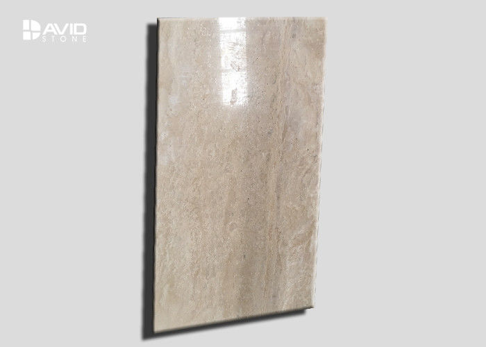 Decorative Travertine Marble Floor And Wall Tiles Non Deformation Anti - Scratch